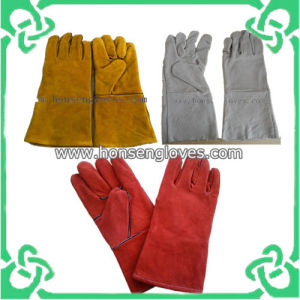 Welding Work Leather Glove in Cow Leather (GS-801E)