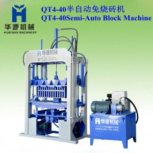 Small Concrete Block Making Machine, Qt4-40 Manual Operation Block Making Machine