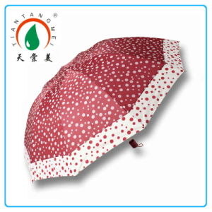 Three Folding Fancy Ladies Umbrellas with Dots Print Made in China