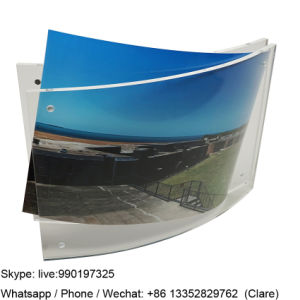 Custom Curved Acrylic Clear Magnet Photo Frame pictures & photos