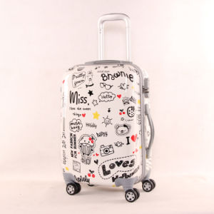 ABS+PC Printed Hard Shell Love Designer Luggage pictures & photos