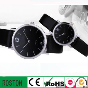 Leather Strap Quartz Movement OEM Couple Watch pictures & photos