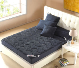 Dark Blue Cotton Corduroy Mattress Cover