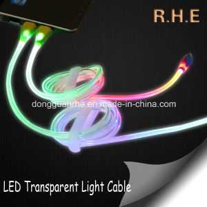 LED Transparent Light USB Cable for Micro USB
