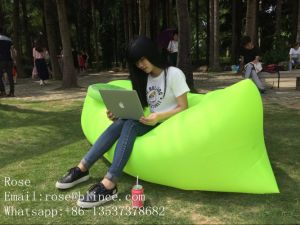 Hot Sale Sleeping Bag Inflatable Couch with Side Pocket pictures & photos