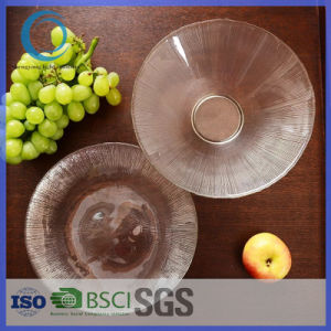 100% No-Lead Glass Plate/Clear Glass Fruit Dinner Plate/Decoration Plate/Dish Plate pictures & photos