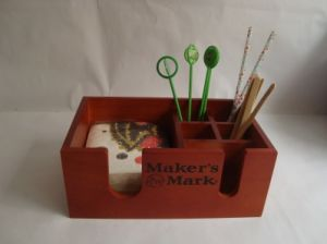Wooden Bar Caddy Napkin/Straw/Stirrer Holder pictures & photos