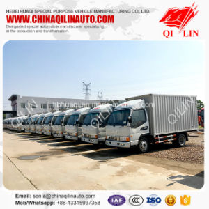 4t Light Duty Box Cargo Truck with Air Conditioner for Sale pictures & photos