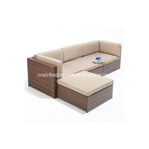 Outdoor Rattan Sofa for Living Room with Steel / SGS (607-1) pictures & photos