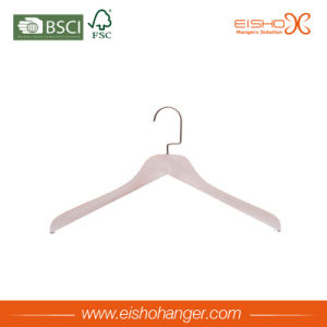 Eisho Flat Hook Wooden Shirt Clothes Hanger pictures & photos
