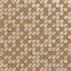 "5/8X5/8"" Rough Brown Glass Tile Wall Mosaic"