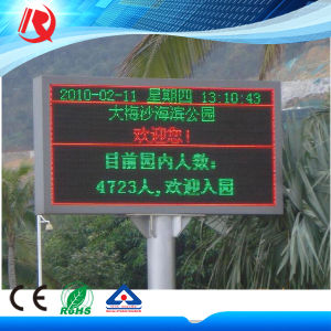 Outdoor Single Color LED Sign for Advertising Display pictures & photos