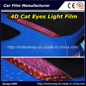 4D Cat Eyes PVC Car Lamp Film Car Light Film Car Wrap Film with 12 Colors pictures & photos