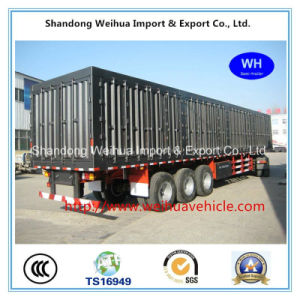 Semi Truck Trailer Container Trailer with 3 Axles Van From Manufacture pictures & photos