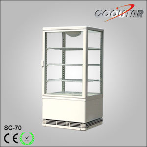 Automatic Defrost Four Side Glass Door Upright Beverage Cooler (SC-70) pictures & photos