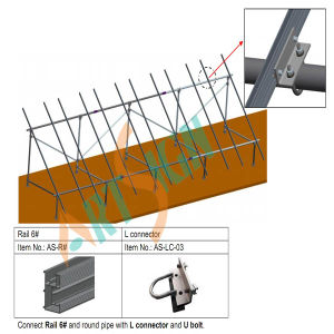 Solar Mounting System of U Bolt Connected with Rail pictures & photos