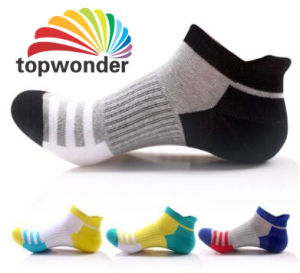 Custom Men′s or Women′s Sport Ankle Sock in Various Colors and Designs pictures & photos