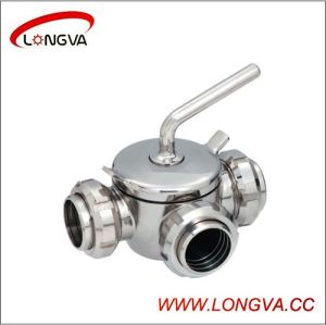 Hotsale Ss304/316L Three-Way Plug Valve pictures & photos