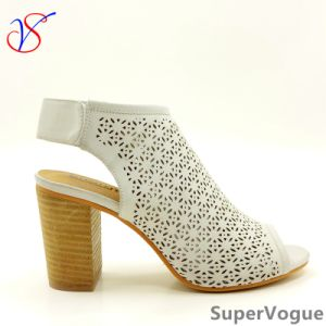 Two Color Sex Fashion High Heeled Women Lady Sandals Shoes for Socially Business Sv17s001-01-W pictures & photos