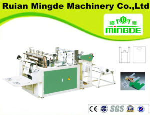 Two Line Heating Sealing Heat Cutting Bag Making Machine (MD-DFR-350X2/450X2A) pictures & photos