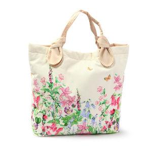 Canvas Women Handbag; Printed Flower Bag pictures & photos