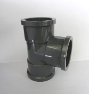 UPVC Pipe Fitting Equal Tee pictures & photos