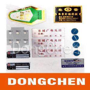 Silk Screen Printing Machine Metal Nameplate pictures & photos