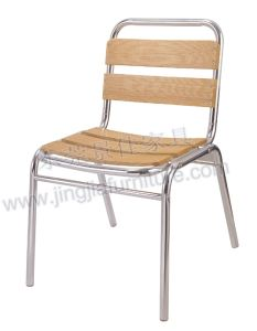 Aluminum Wood Leisure Outdoor Garden Dining Chair (JJ-AW07)