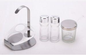 Transparent 4-PCS Spice Rack Set Spice Jar (CS-049) pictures & photos
