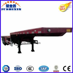 3 Axles 13m Length 60tons Gooseneck Deck Flatbed Semi Trailer pictures & photos