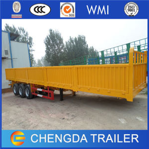 Side Gate and Fence Truck Driving Large Cargo Trailer pictures & photos