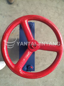 Custimized Cast Steel Knife Gate Valve with Drawing pictures & photos