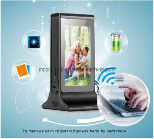 """20800mAh Portable Restaurant Menu Power Bank with 7"""" Double Sided LED Display, Cafe Coffee Shop Table Charging Station with Advertising Player pictures & photos"""