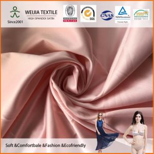 30d*30d+30d Spandex Satin Fabric for Smooth Nightgown and Underwear pictures & photos
