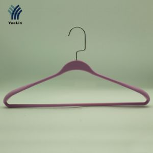 Yeelin PVC Clothes Hanger with Rubberized Plastic pictures & photos