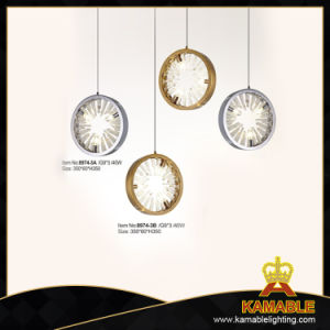 Modern Good Quality Round Shape Glass Chandelier (8974-3A) pictures & photos