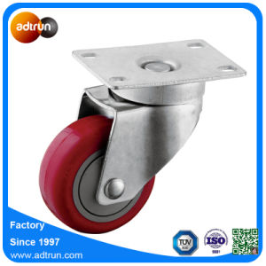 Medium Duty 3 Inch PU Caster Ball Bearing Wheels 100kg Capacity pictures & photos