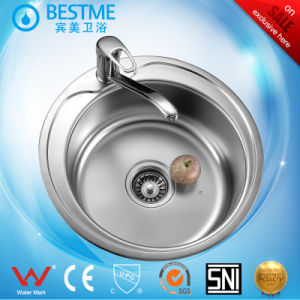 Single Round Bowl Stainless Steel Sink BS-650 pictures & photos