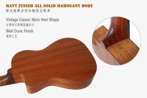Cutway All Solid Mahogany Body Koa Pili Koko Tenor Ukulele pictures & photos