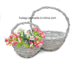 Pure Handmade Rattan Hanging Planter pictures & photos