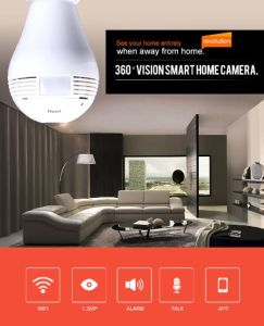 Hot Selling 360 Degree Fisheye Vr Camera Light Bulb Camera pictures & photos