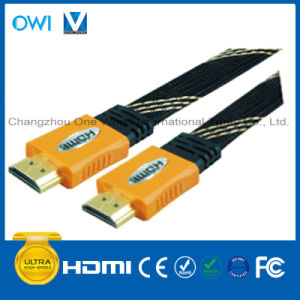 Multi-Color Overmolding Flat HDMI 19pin Plug-Plug Cable pictures & photos