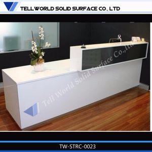 Tw Artificial Stone Solid Surface LED Beauty Salon Reception Desk pictures & photos