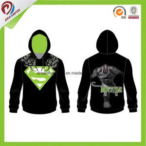 Black Gym Hoodie Custom Embroidery Logo Mens Hoody pictures & photos