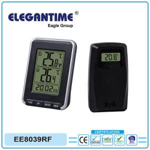 Clock with Sensor Max/Min Temperature Recorded Indoor Outdoor Calendar pictures & photos
