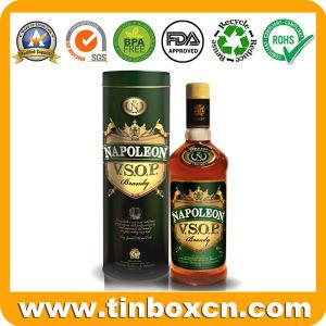 Custom Round Tin Metal Wine Box for Vintage Vodka Whisky pictures & photos