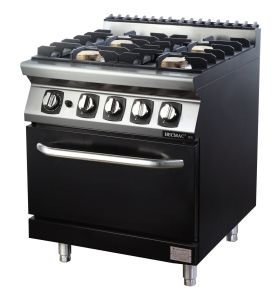 Commercial Four Burner Gas Stove with Cabinet (FG7XC40YN) --LPG pictures & photos