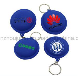OEM Silicone USB Cable Wire Earphone Winder Case with Keyring pictures & photos