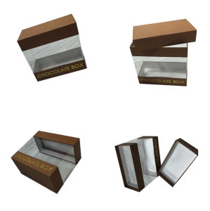 Small Paper Chocolate Packing Box with Clear PVC Window pictures & photos