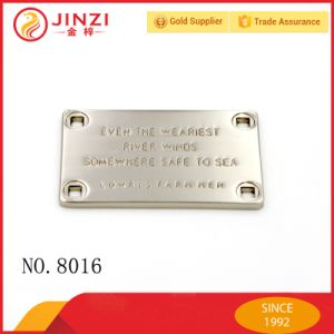 China Reliable Supplier Custom Metal Clothing Label Maker pictures & photos